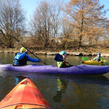 Kanu-AG-Kinder paddeln wieder auf  der Ruhr